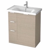 Bathroom Vanity 31 Inch Floor Standing Larch Canapa Vanity Cabinet With Fitted Sink WA02 ARCOM WA02