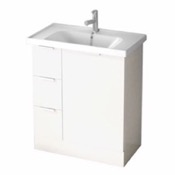Bathroom Vanity 31 Inch Floor Standing Glossy White Vanity Cabinet With Fitted Sink WA03 ARCOM WA03