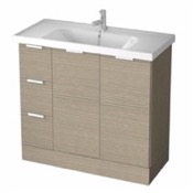 Bathroom Vanity 39 Inch Floor Standing Larch Canapa Vanity Cabinet With Fitted Sink WA05 ARCOM WA05