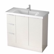 Bathroom Vanity 39 Inch Floor Standing Glossy White Vanity Cabinet With Fitted Sink WA06 ARCOM WA06