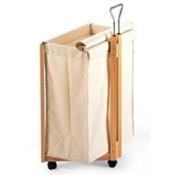 Laundry Basket Natural Beech Wood Linen Basket Aris 401-N