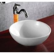 Bathroom Sink Round White Ceramic Vessel Bathroom Sink Caracalla CA4030