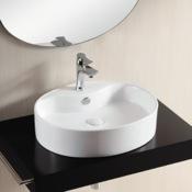 Bathroom Sink Oval White Ceramic Vessel Bathroom Sink Caracalla CA4031