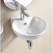 Bathroom Sink Round White Ceramic Wall Mounted Bathroom Sink Caracalla CA4033
