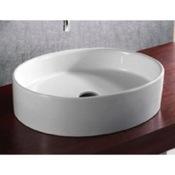 Bathroom Sink Oval White Ceramic Vessel Bathroom Sink Caracalla CA4035