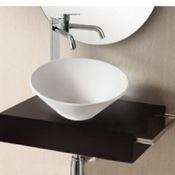Bathroom Sink Round White Ceramic Vessel Bathroom Sink Caracalla CA4037