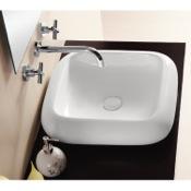 Bathroom Sink Square White Ceramic Vessel Bathroom Sink Caracalla CA412