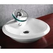 Bathroom Sink Round White Ceramic Vessel Bathroom Sink Caracalla CA4140