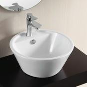 Bathroom Sink Round White Ceramic Vessel Bathroom Sink Caracalla CA4141