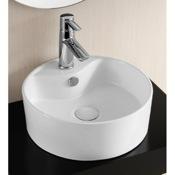Bathroom Sink Round White Ceramic Vessel Bathroom Sink Caracalla CA4161