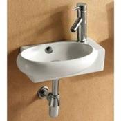 Bathroom Sink Round White Ceramic Wall Mounted or Vessel Bathroom Sink Caracalla CA4522B