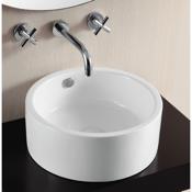 Bathroom Sink Round White Ceramic Vessel Bathroom Sink Caracalla CA4570