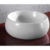 Bathroom Sink Circular White Ceramic Vessel Bathroom Sink Caracalla CA4921