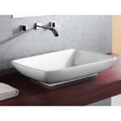 Bathroom Sink Rectangular White Ceramic Vessel Bathroom Sink Caracalla CA4938