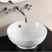 Bathroom Sink Round White Ceramic Vessel Bathroom Sink Caracalla CA4947