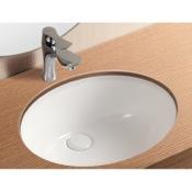 Bathroom Sink Oval White Ceramic Undermount Bathroom Sink Caracalla CA908-16