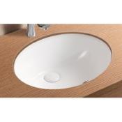 Bathroom Sink Oval White Ceramic Undermount Bathroom Sink Caracalla CA908-18