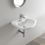 Bathroom Sink Rectangular White Ceramic Wall Mounted or Drop In Sink CeraStyle 066200-U