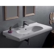 Bathroom Sink Rectangle White Ceramic Wall Mounted Sink or Drop In Sink CeraStyle 069200-U