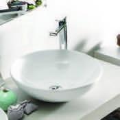 Bathroom Sink Round White Ceramic Vessell Sink 071600-U CeraStyle 071600-U
