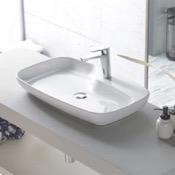 Bathroom Sink Rectangular White Ceramic Vessel Sink CeraStyle 074400-U