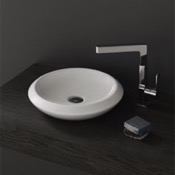 Bathroom Sink Round White Ceramic Vessel Sink CeraStyle 075100-U