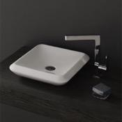 Bathroom Sink Square White Ceramic Vessel Sink CeraStyle 075300-U