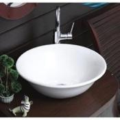 Bathroom Sink Round White Ceramic Vessel Bathroom Sink 072600 CeraStyle 072600