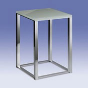 Bathroom Stool Bathroom Stool with White Glass Top 40200 Windisch 40200