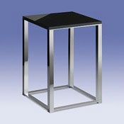 Bathroom Stool Bathroom Stool with Black Glass Top 40220 Windisch 40220