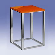 Bathroom Stool Bathroom Stool with Orange Glass Top 40240 Windisch 40240