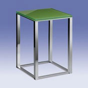 Bathroom Stool Bathroom Stool with Green Glass Top 40241 Windisch 40241