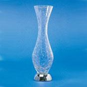 Vase Tall Crackled Crystal Glass Bathroom Vase Windisch 61675D