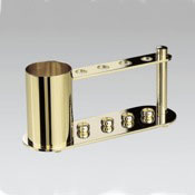 Toothbrush Holder 4-Hole Chrome and Gold Toothbrush Holder with Extra Container Windisch 83111D