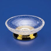 Soap Dish Round Crackled Crystal Glass Soap Dish Windisch 92131