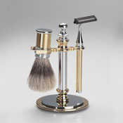Shaving Set Shaving Set in Chrome, Gold Windisch 97160D