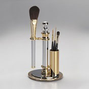 Cosmetic Brush Set Cosmetic Chrome Brush Set Windisch 98118D