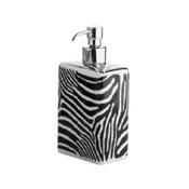 Soap Dispenser Rectangle Zebra Design Ceramic Soap Dispenser Gedy 1381