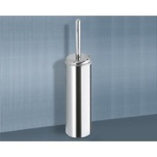 Toilet Brush Round Chrome Toilet Brush Holder Gedy 2733