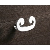 Bathroom Hook Chrome Double Hook Gedy 3326-13