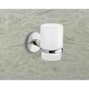 Toothbrush Holder Wall Mounted Frosted Glass Toothbrush Holder With Chrome Mounting Gedy 4210-13