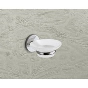 Soap Dish Wall Mounted Frosted Glass Soap Dish With Chrome Mounting Gedy 4211-13