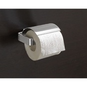 Toilet Paper Holder Square Polished Chrome Toilet Roll Holder With Cover Gedy 5425-13