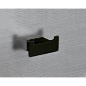 Bathroom Hook Square Matte Black Double Hook Gedy 5426-M4