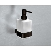 Soap Dispenser Wall Mounted Frosted Glass Soap Dispenser Gedy 5481-M4