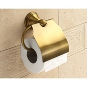 Toilet Paper Holder Bronze Toilet Roll Holder With Cover Gedy 7525-44