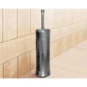 Toilet Brush Round Polished Chrome Toilet Brush Holder Gedy 7533-13