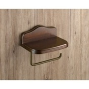 Toilet Paper Holder Wood Toilet Paper Holder With Cover Gedy 8125-95