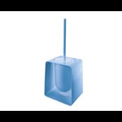 Toilet Brush Square Blue Toilet Brush Holder Gedy 1033-P1