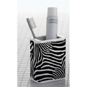 Toothbrush Holder Rectangle White Black Pottery Toothbrush Holder Gedy 1310